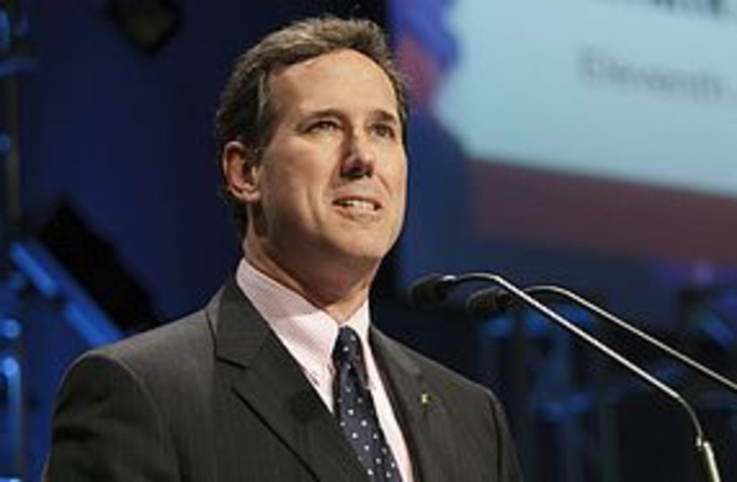 rick santorum constipated 311 (photo credit: REUTERS)