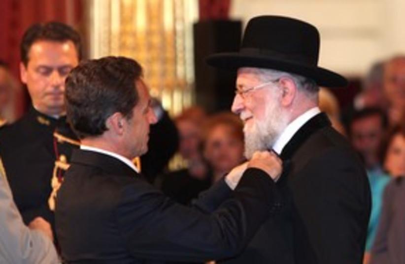 Rabbi Meir Lau (photo credit: Courtesy French Presidents office )