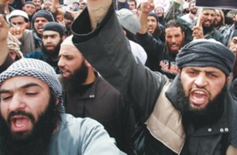 Islamist rally in Amman, Jordan 311 (R) (photo credit: Reuters)
