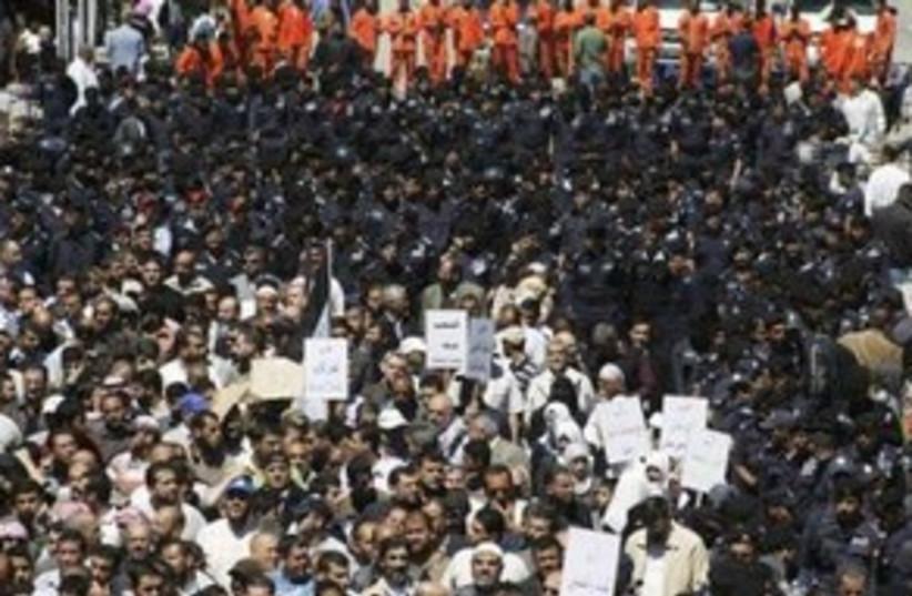 Jordanian protests gather 311 (R) (photo credit: REUTERS/Majed Jaber )