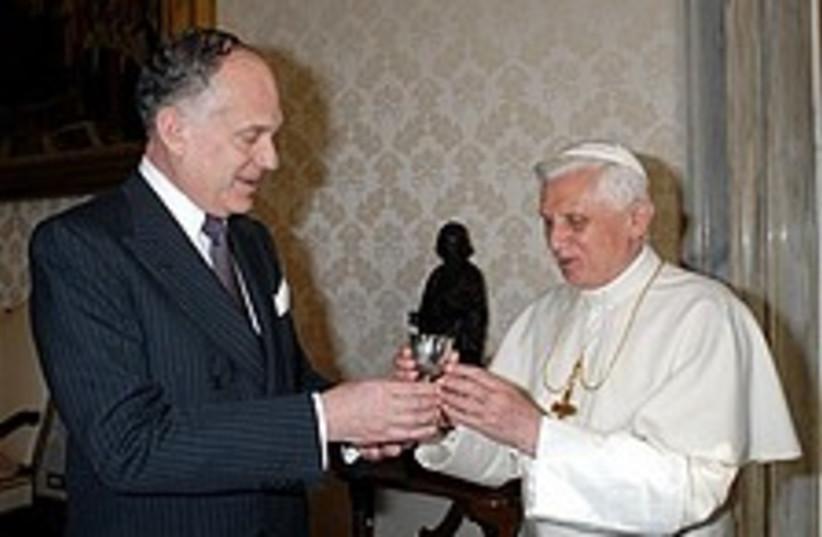 lauder pope 224.88 (photo credit: AP)