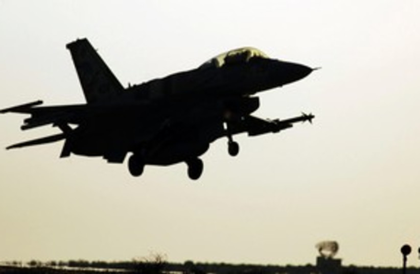 IDF IAF fighter jet takes off airstrik air strike 311 (R) (photo credit: Ho New / Reuters)