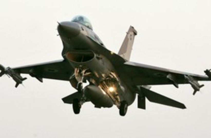 IDF IAF fighter jet airstrike air strike 311 (R) (photo credit: Ho New / Reuters)