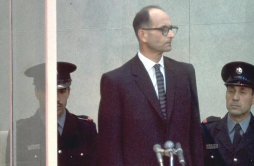Adolf Eichmann on trial in Jerusalem 521 (photo credit: JOHN MILLI / GPO)