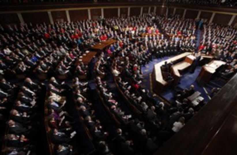 Joint session of the US Congress 311 (R) (photo credit: Jim Young / Reuters)