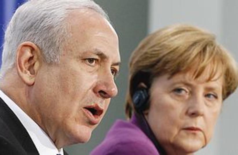 Netanyahu Merkel 311 (photo credit: REUTERS)