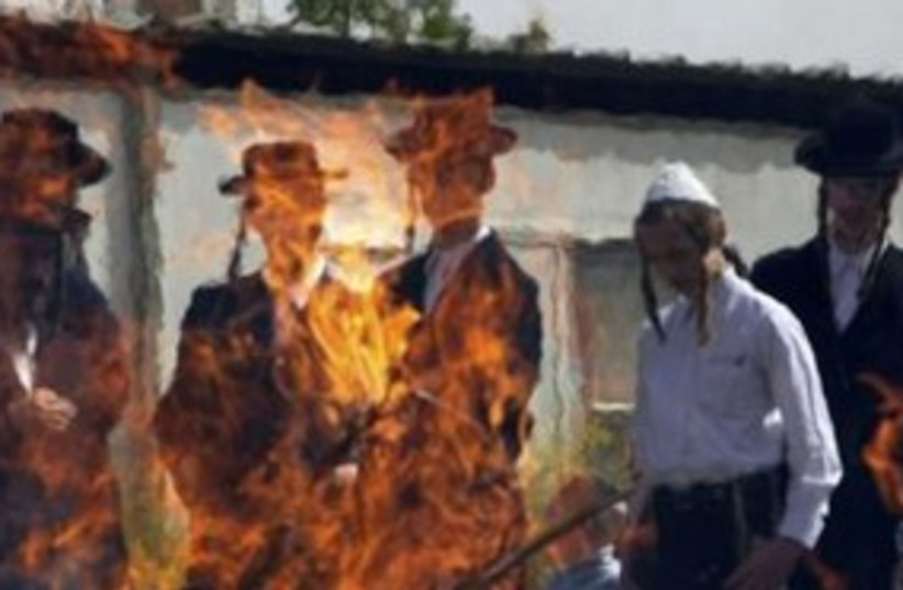 Haredim buning hametz 311 (photo credit: REUTERS/Ronen Zvulun)
