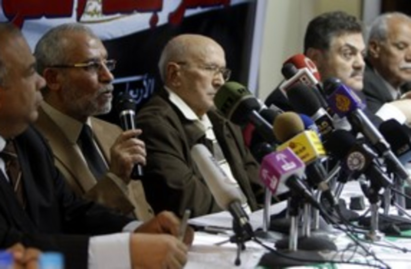 Egyptian Muslim Brotherhood leaders 311 (R) (photo credit: Amr Dalsh / Reuters)