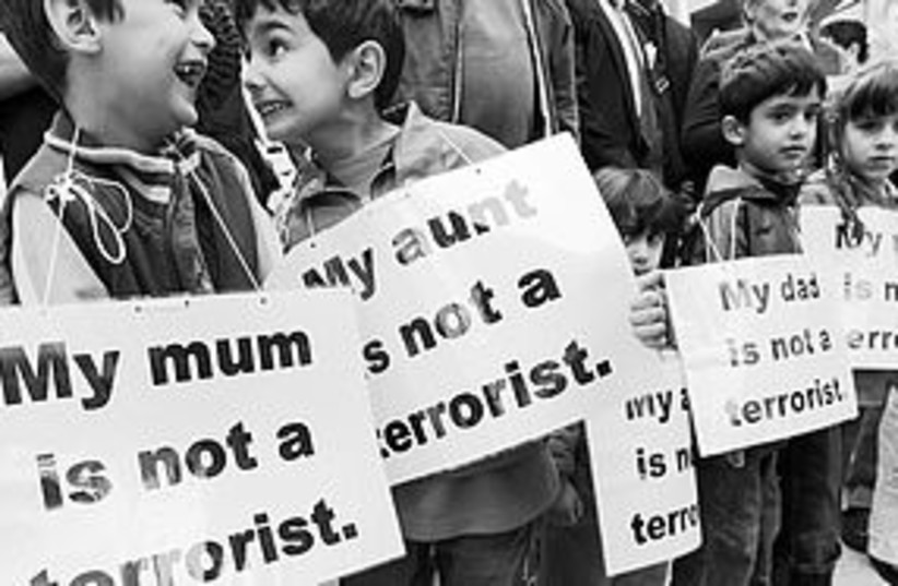 Mum not terrorist (photo credit: Reuters)