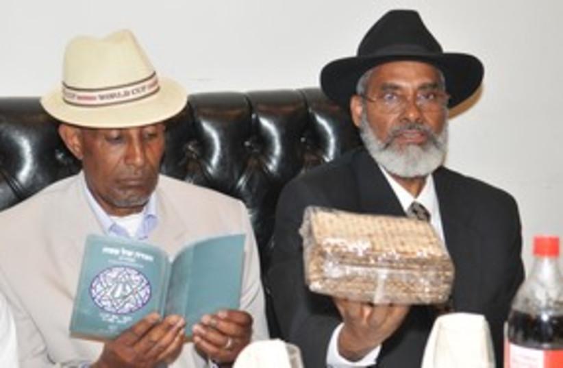 New Ethiopian immigrants at seder 311 (photo credit: Courtesy)