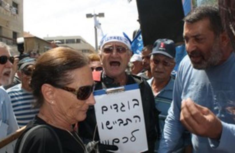 Protest at Tel Aviv's Indpendence Hall 311  (photo credit: Ben Hartman)
