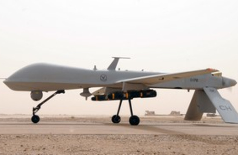 Armed UAV predator drone 311 (photo credit: Courtesy of US Air Force)