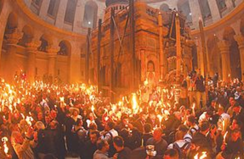 Church of Holy Sepulchre (photo credit: REUTERS)