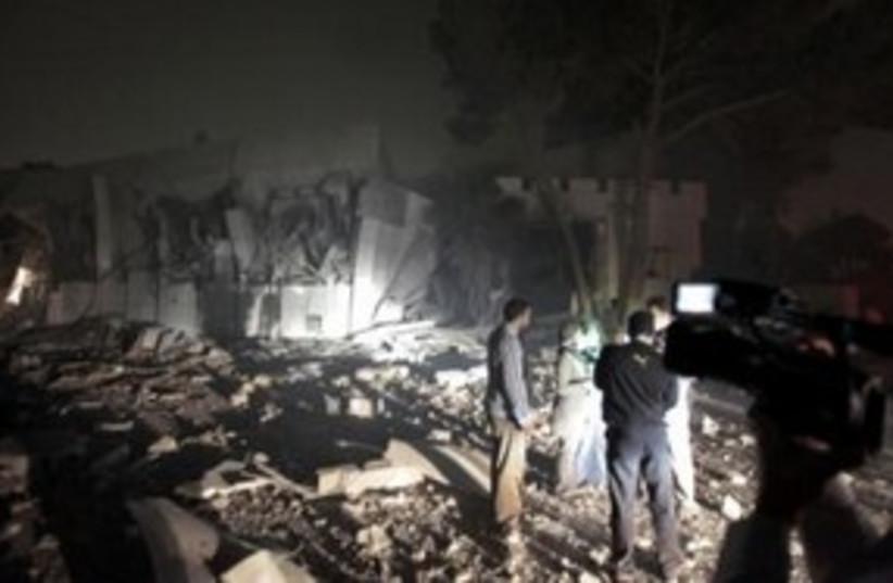 Gaddafi's Bab al-Aziziyah Tripoli compound 311 (R) (photo credit: REUTERS/Louafi Larbi)