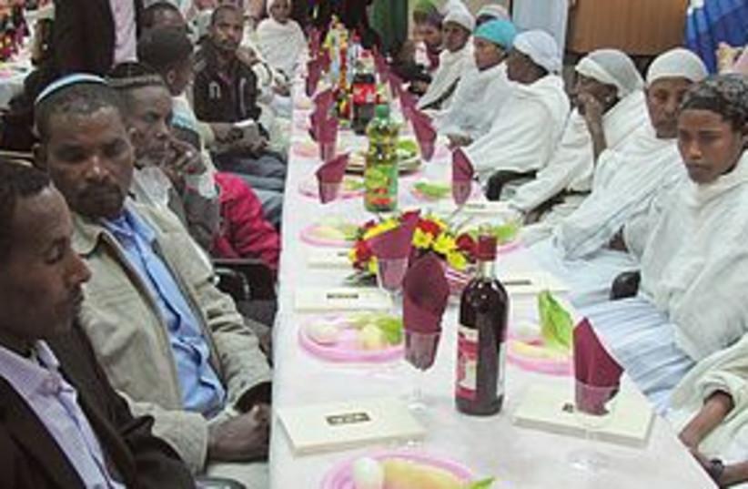 Ethiopian Jews at seder 311 (photo credit: Courtesy)
