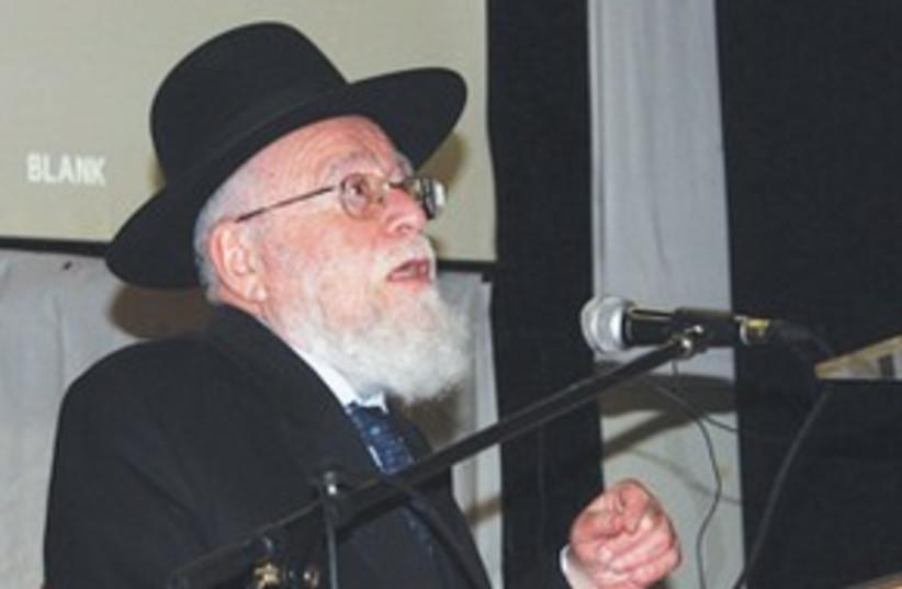 Rabbi Dov Lior 311 (photo credit: Ben Hartman)