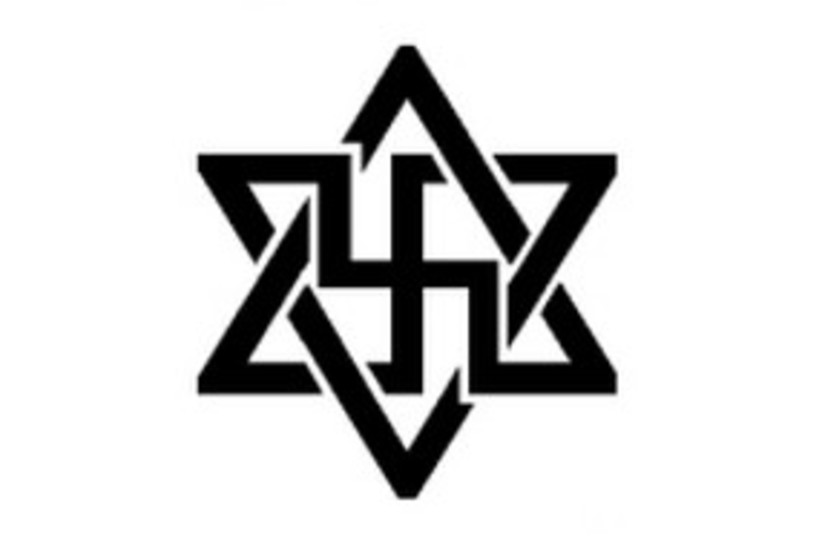 German Left Party Star of David-Swastika 311 (photo credit: Courtesy)