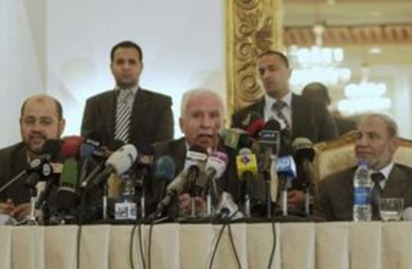 Palestinian Unity Egypt 311 (photo credit: REUTERS)