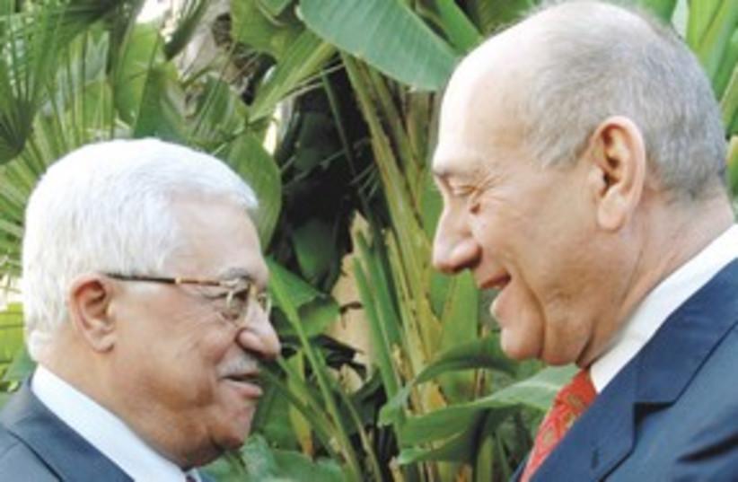 Abbas Olmert 311 (photo credit: REUTERS)