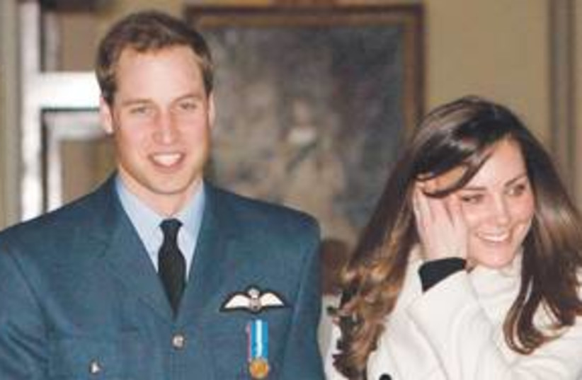 Prince William and Kate Middleton 311 (R) (photo credit: Reuters)