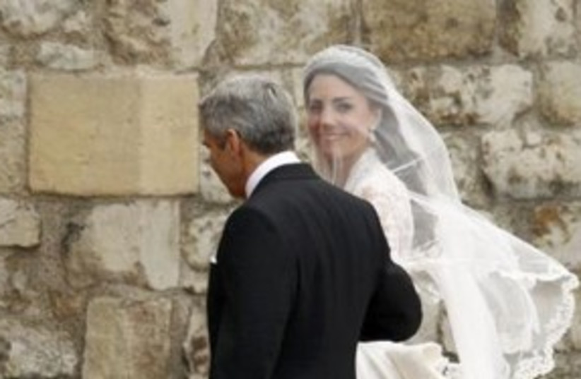 kate middleton at royal wedding_311 reuters (photo credit: REUTERS/Kai Pfaffenbach)