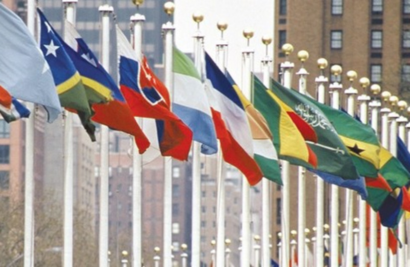 United Nations flags_521 (photo credit: Istock)