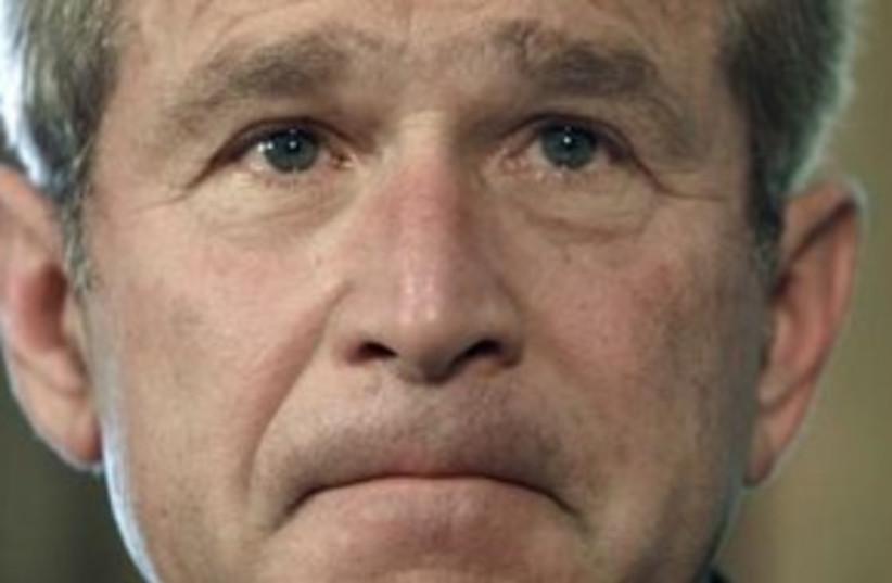 George Bush 311 (R) (photo credit: REUTERS)