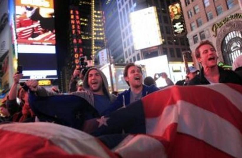 Celebrations of bin Laden's death in Times Square