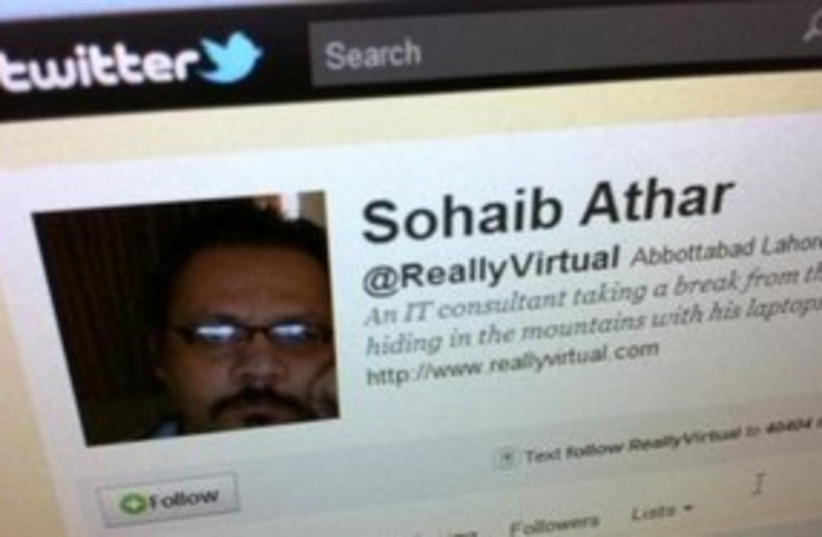 Twitter page of Sohaib Athar 311 (R) (photo credit: REUTERS)