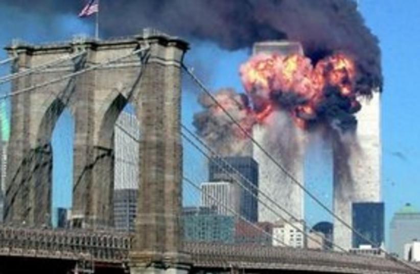 World Trade Center on September 11, 2001 (R) (photo credit: REUTERS/Sara K. Schwittek)