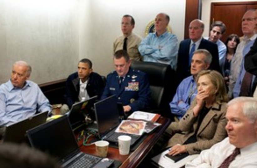 situation room watching bin laden raid_311 reuters (photo credit: REUTERS/Ho New)