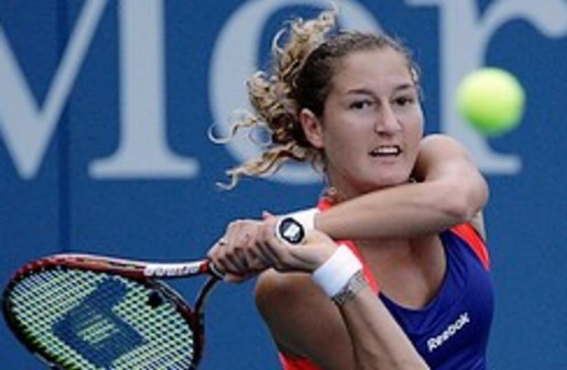 Pe'er returns to Kuznetsova during their third rou (photo credit: AP)