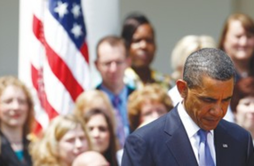 Obama Mourning 311 (R) (photo credit: REUTERS)