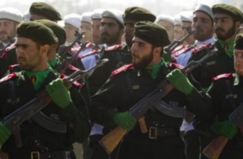 Iranian Revolutionary Guard 311 (R) (photo credit: REUTERS)