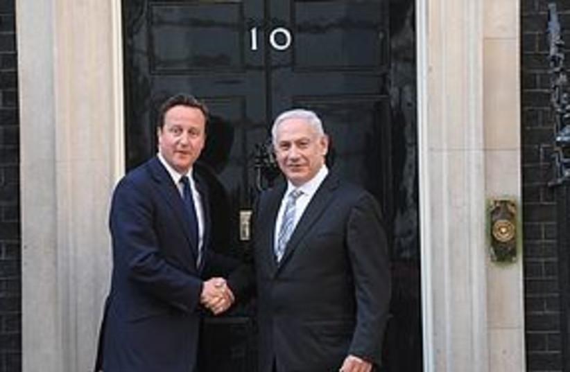 netanyahu cameron 10 downing st 311 (photo credit: Amos Ben Gershom/GPO)
