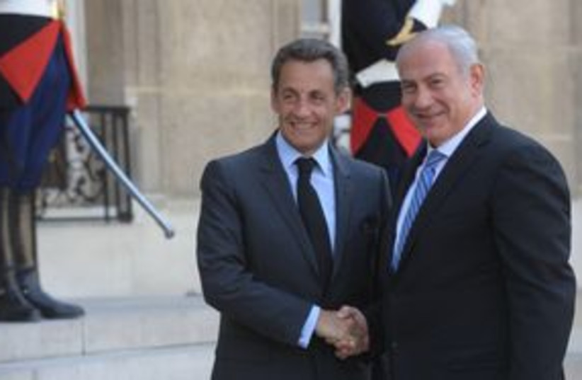 PM Netanyahu with French President Nicolas Sarkozy 311 (photo credit: Amos Ben-Gershom / GPO)