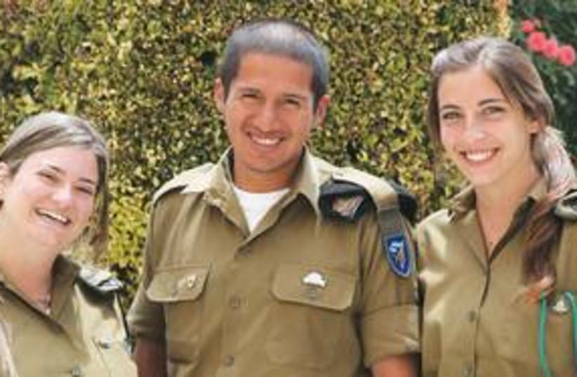IDF Spanish speaking trio 311 (photo credit: Marc Sellem Israel/The Jerusalem Post)