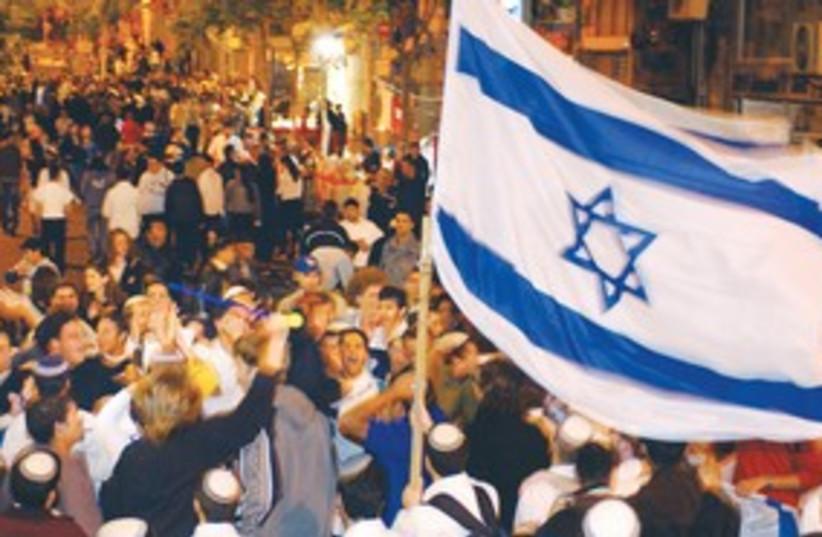 Yom Haaztmaut Israeli flag 311 (photo credit: Ariel Jerozolimski)