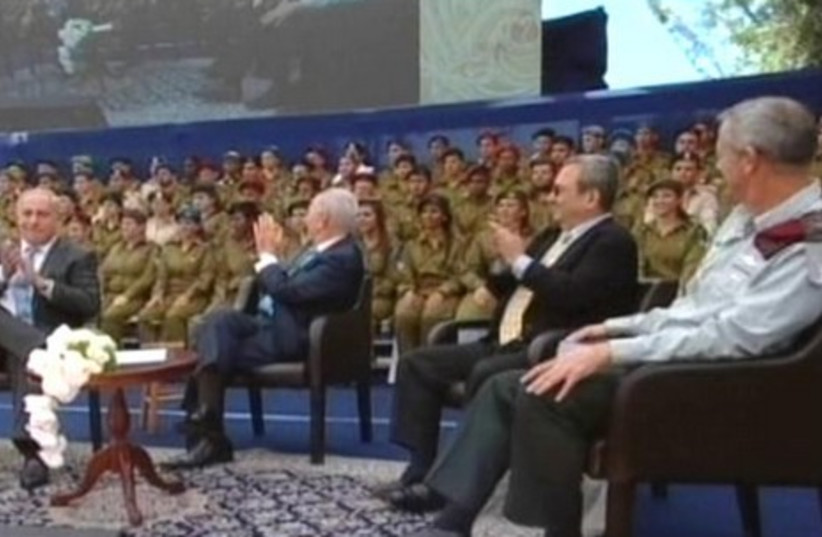 President Peres with Netanyahu, Barak, Gantz