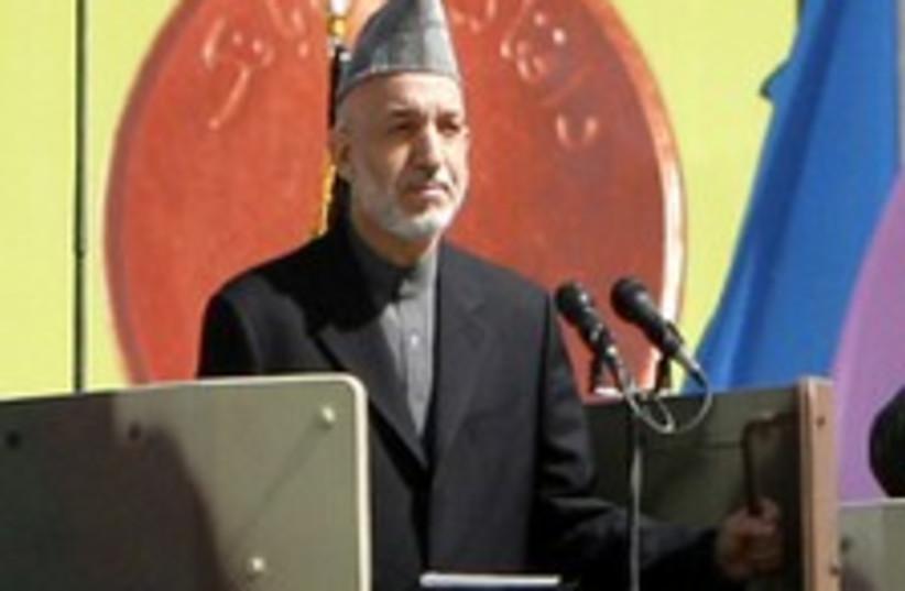 Afghan President Hamid Karzai  (photo credit: AP)