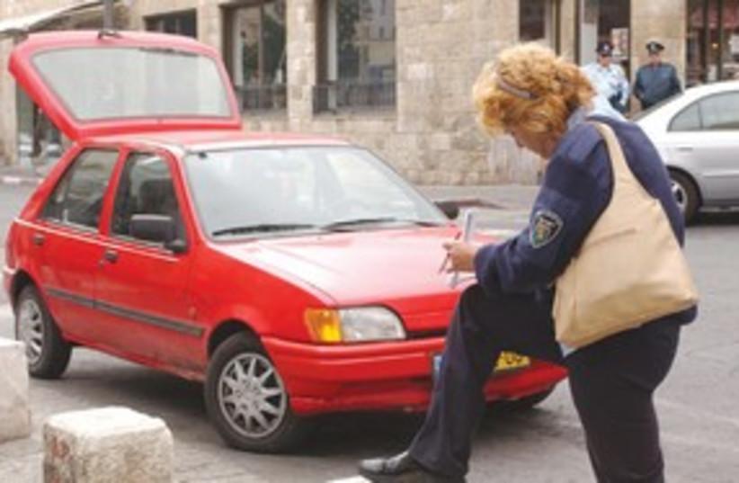 Traffic Ticket 311 (photo credit: Ariel Jerozolimski)