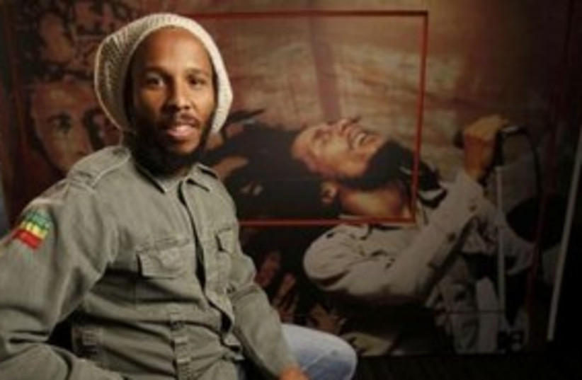 "David ""Ziggy"" Marley at Bob Marley exhibit 311 (R) (photo credit: REUTERS/Mario Anzuoni )"