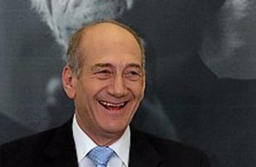 Olmert happy 224.88 (photo credit: AP [file])