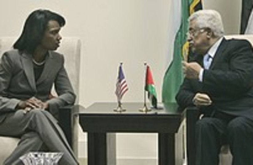 Rice Abbas talk 224.88 (photo credit: AP [file])