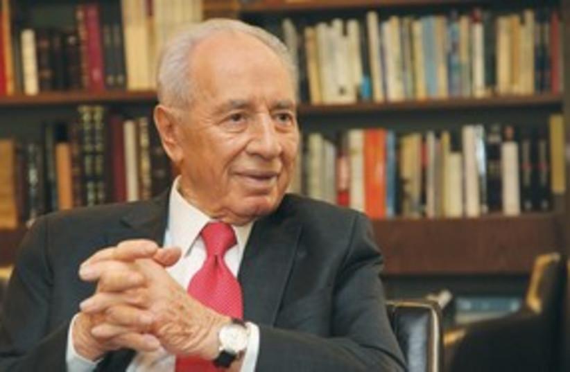 Shimon Peres 311 (photo credit: Marc Israel Sellem/The Jerusalem Post)