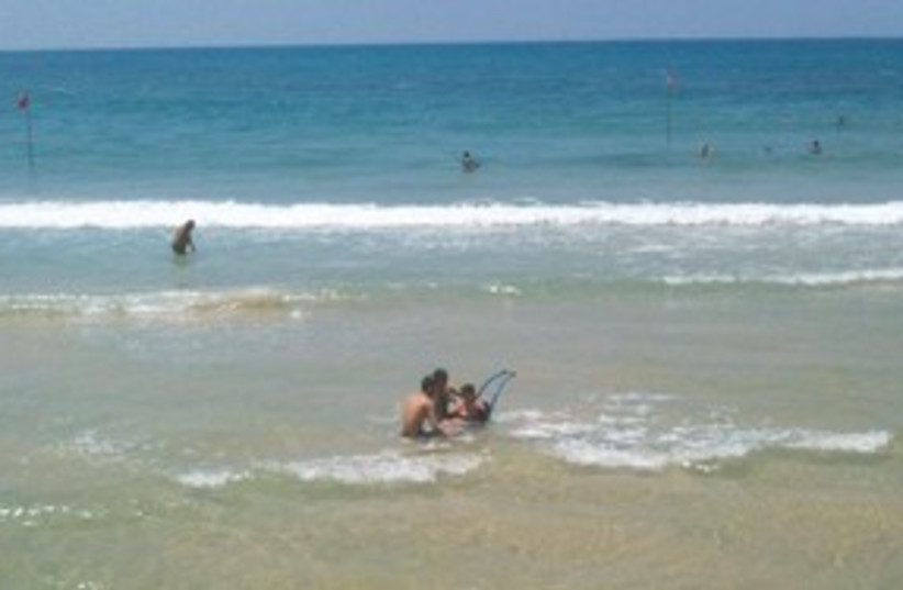 Disabled at the beach 311 (photo credit: Zion Sade)