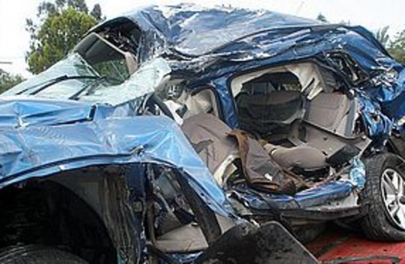 Nakba Day road attack 311 (photo credit: YAAKOV LAPPIN)