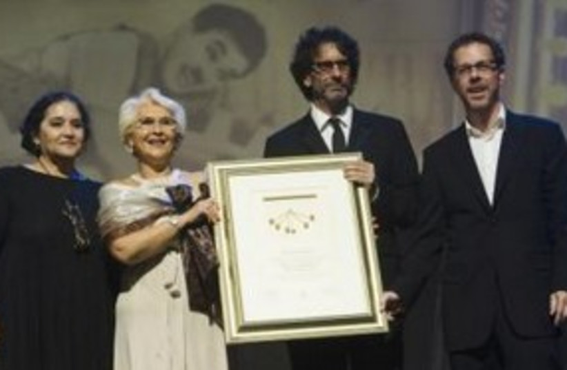Cohen Brothers at TAU awards ceremony 311 (R) (photo credit: REUTERS/Amir Cohen)