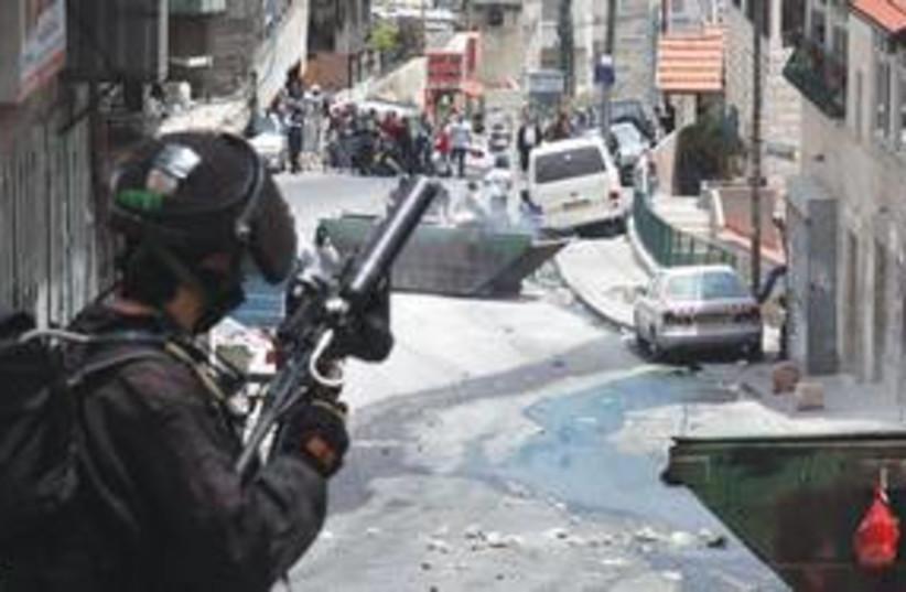 Police in east Jerusalem on 'Nakba Day' 311 (photo credit: Marc Israel Sellem/The Jerusalem Post)