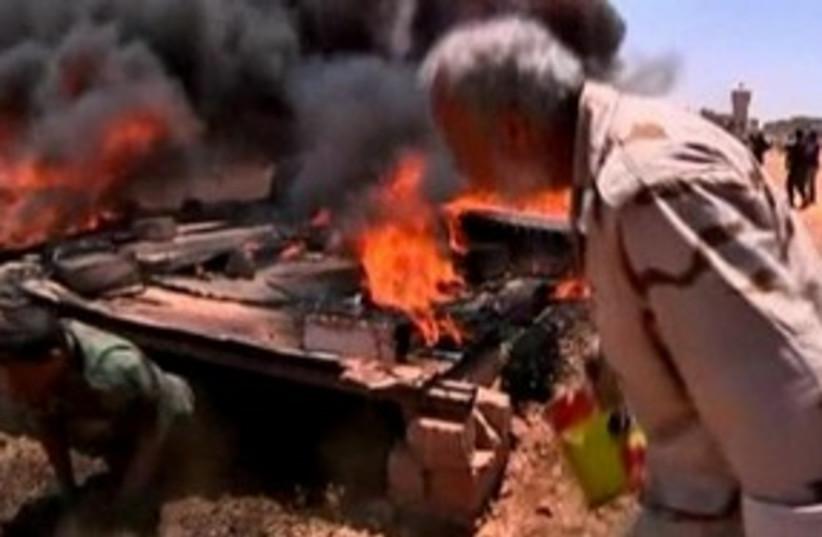 libyan rebels boot camp_311 reuters (photo credit: REUTERS)